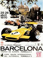 ART PRINT SPORT ADVERT MOTOR RACE BERCELONA SPAIN FORMULA GRAN PREMIO NOFL1051