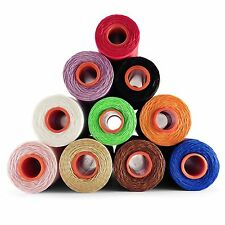 Waxed thread  slipping twine upholstery leather craft thread 1mm hand sewing ACK