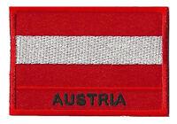 Écusson patche patch Autriche badge drapeau 70 x 45 mm à coudre brodé