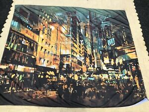 Dorm/ Wall Tapestry City Scape Design