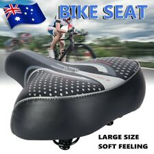Bicycle Saddle Bike Seat Wide Extra Comfort Soft Cushion Cover Padded Sporty Pad