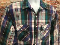 VTG Five Brother Men's Flannel Plaid Shirt, Size Tallman 17-XL-17.5