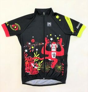 2018 Men's Jungle Fun Short Sleeve Cycling Jersey by Santini