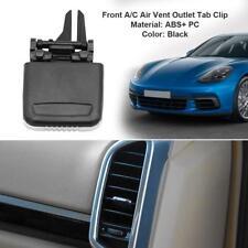 Black Front A/C Air Vent Outlet Tab Clip Repair Kit fr Porsche Cayenne 2011-2016