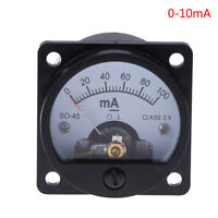 Ammeter SO-45 class 2.5 accuracy DC 0-100mA round analog panel meter blac TPI