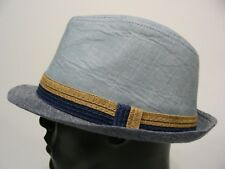 SHADES OF BLUE - L/XL SIZE TRILBY FEDORA STYLE CAP HAT!