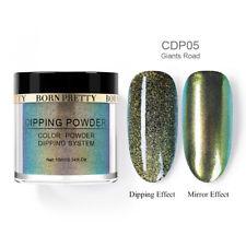 Born Pretty Chameleon Dipping Powder Green Mirror Nail Art No Uv Gel Lamp Decors