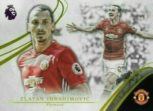 2016 TOPPS Premier Gold  Zlatan Ibrahimovic Manchester United New Signings Card
