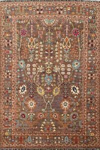 Vegetable Dye Floral Ziegler Oriental Traditional Area Rug Wool Hand-knotted 6x8