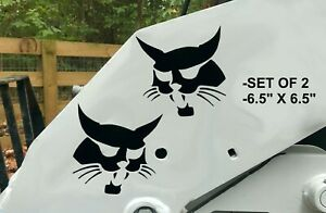 "Bobcat Face Sticker 6.5"" SET OF 2 Logo Skid Steer Vinyl Decal Sticker"