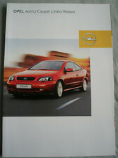 Opel Astra Coupe Linea Rossa brochure Feb 2001 German text