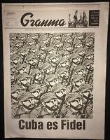 11/27 2016 GRANMA ~ Dedicated ed 16pgs ~ Rare Newspaper on FIDEL CASTRO's Death
