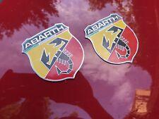 ABARTH Fiat 500 500C 595 Punto Evo 124 Abarth Shields Logos Badges Emblems x2
