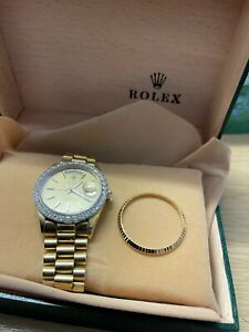 ROLEX 18038 DAY DATE 36MM IN SOLID 18CT YELLOW GOLD.