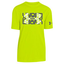 Under Armour Kid's UA Glow Big Logo T-Shirt - YMD (9-10) - Bright Yellow