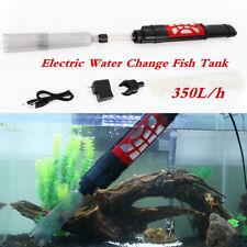 New listing Electric Aquarium Gravel Cleaner Vacuum Water Change Fish Tank Siphon Pump 6W