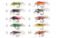 Cicada Fishing Flies one of each 10 colour,exciting breakthrough Realistic Fly