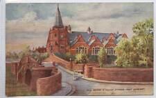 (w14g46-346) Dell Bridge & Village Schools, PORT SUNLIGHT 1906 Used VG