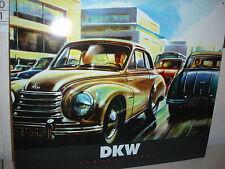 """BLECHSCHILD """"  DKW AUTO SONDERKLASSE """"  SCHILD 34 cm x 39 cm"""