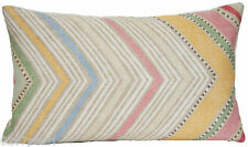 Pink Cushion Cover Zig zag Pillow Throw Case Osborne and Little Fabric Fez Lilac