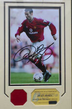 Ryan Giggs Manchester United Signed Photo Framed and mounted with COA