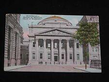 Antique POSTCARD Montreal, Canada, Banque de Montreal Building, c1924