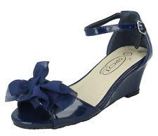 Chaussures bleues en cuir pour fille de 2 à 16 ans pointure 32