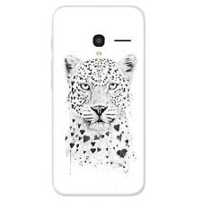 Coque Housse Alcatel One Touch Pixi 3(4.0) en Silicone France - B.S(Love leopard