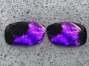 ETCHED POLARIZED PURPLE MIRROR REPLACEMENT LENSES FOR OAKLEY FIVES SQUARED & 3.0