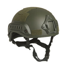 Mil-Tec MICH 2001 Military Army Police Tactical Training Helmet w/ Rails Green