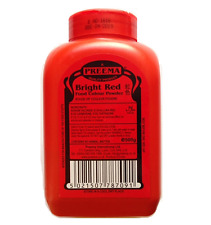 Preema Bright Red Food Colouring Colour Color Powder 500g, Cake Decoration 0.5kg