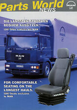 Prospekt MAN Zubehör ISRI Lkw Sitze 11/00 2000 brochure truck seats Broschüre