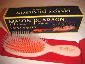 Mason Pearson N4 Pocket Nylon Hairbrush - Pink