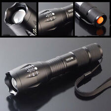 1600 Lumens Zoom Lamp XM-L T6 LED Flashlight Torch Lamp Light 18650/AAA Bright