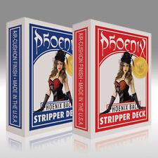 Phoenix Stripper Deck SI - Rot - konisches Kartenspiel - Karten für Zauberer