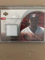 2002 UD Peoples Choice Game Jersey Baseball Card #PJEB Ellis Burks SP Jsy
