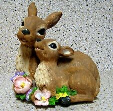 ADORABLE MUSICAL MOTHER AND BABY DEER RESIN FIGURINE PLAYS MEMORY (FROM CATS)