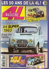 4L MAGAZINE 22 RENAULT 4 SUPER 1963 R4 4X4 SINPAR PARIS DAKAR 1978 MONTE CARLO