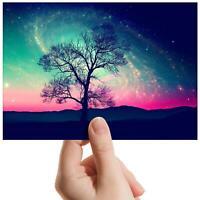 "Space Tree Galaxy Pink Sky - Small Photograph 6"" x 4"" Art Print Photo Gift #8218"