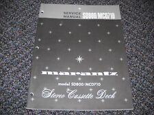 MARANTZ SD800/MCD710 STEREO CASSETTE DECK Service Manual Original Paper