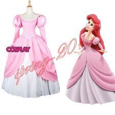 The Little Mermaid princess Ariel Pink Dress Custom Made Cosplay Costume