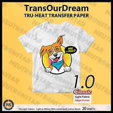 20 Sheets 85x11 Iron On Printab Heat Transfer Paper For Light Cotton T Shirt