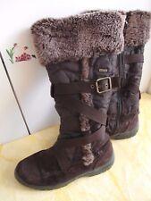 Damen Jana Tex Winterstiefel hohe Schneestiefel braun .41 Leder, Tex Wasserdicht