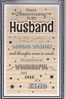 Large Husband Special Anniversary Card 8 Page Verse Special Keepsake Card