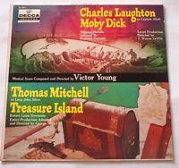 Moby Dick & Treasure Island 1965 LP Vinyl Charles NM- Nice Laughton DL 9071