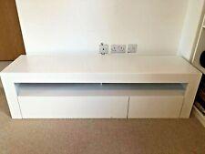 modern TV unit cabinet  white stand high gloss 155x40x44 cm