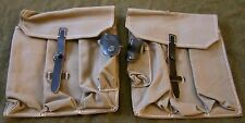 WWII GERMAN MKB42 EARLY MP44 STG44 MG AMMO POUCHES-GREY CANVAS
