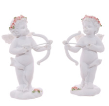 NEW 4 ANGEL CHERUB SHOOTING BOW AND ARROW PINK ROSES CUPID CHE114