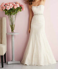 Allure Romance 2703 Champagne/Ivory Bridal Dress Wedding Gown size 18 NWT New
