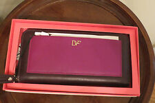 """Diane von Furstenberg """"Voyage"""" Leather Zip-Around Wallet �?Purple - NIB - $175"""